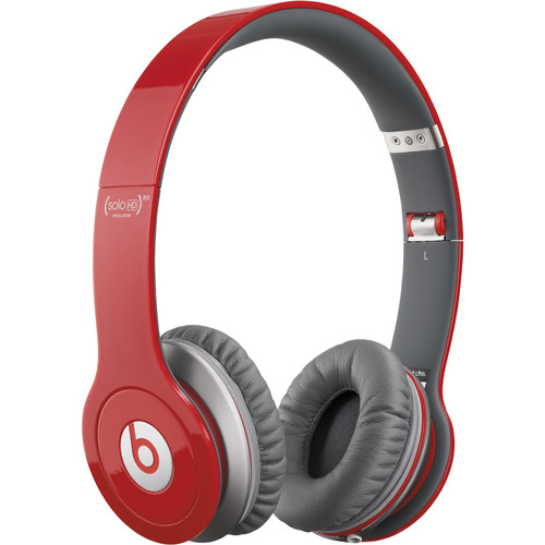Beats by Dr. Dre Solo HD - On-Ear Headphones (Red) with Mic/Remote Control on Cable