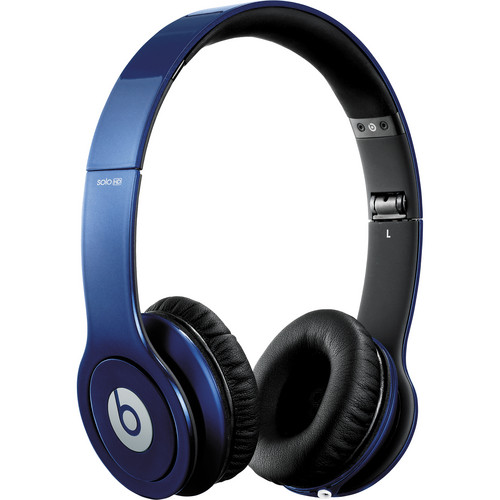 Beats by Dr. Dre Solo HD - On-Ear Headphones (Metallic Blue) with Mic/Remote Control on Cable