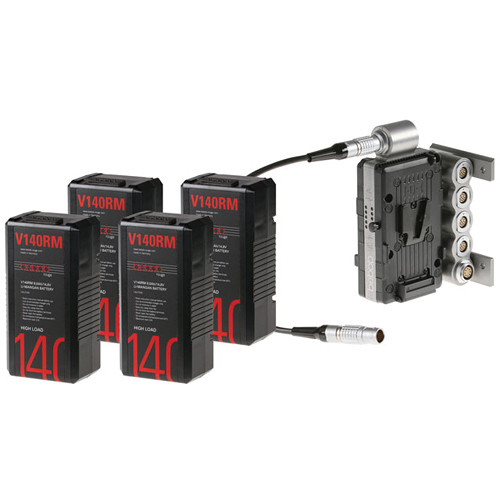 Bebob Engineering Dual-Battery Adapter (V-Mount) for Sony F65 and V140RM Batteries (4) Kit