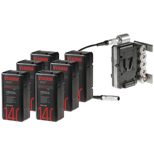 Bebob Engineering Six V90RM Batteries & Dual-Battery Adapter Kit for Sony F65 (V-Mount)