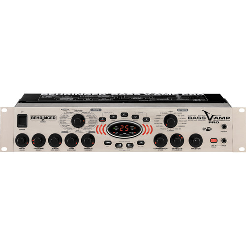 Behringer Bass V-Amp Pro - Rack Mount Modeling Amplifier and Effects Processor for Bass Guitar