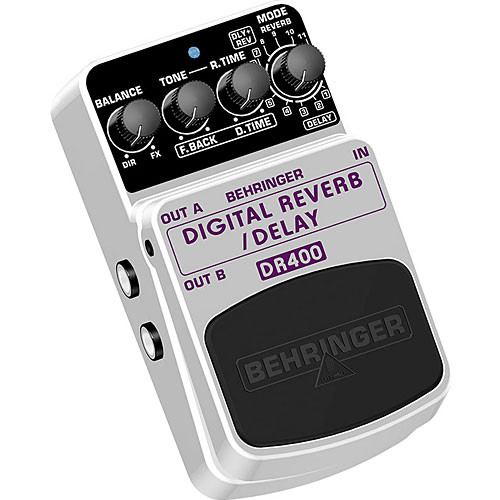 Behringer DR400 Digital Reverb/Delay Stompbox Pedal