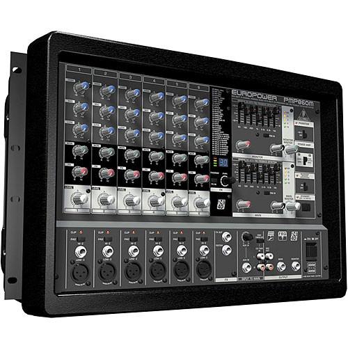 behringer pmp860m 6 channel audio mixer europower pmp860m b h. Black Bedroom Furniture Sets. Home Design Ideas