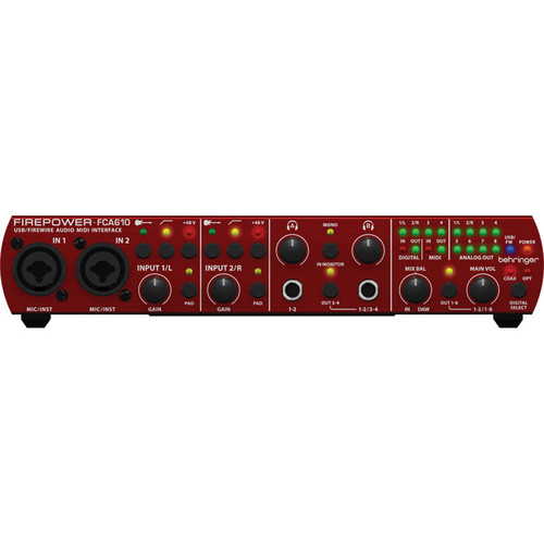 Behringer Firepower FCA610 - 6 x 10 USB/FireWire Audio/MIDI Interface