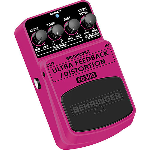 Behringer ULTRA FEEDBACK DISTORTION FD300 Ultimate Feedback & Distortion Effects Pedal