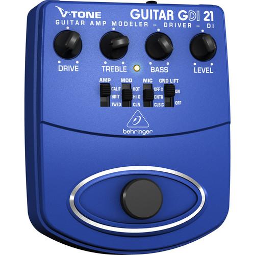 Behringer GDI21 - V-Tone Guitar Amp Modeler/Direct Box