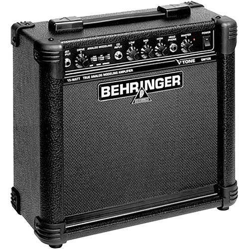 "Behringer GM108 True Analog Modeling 15W Guitar Amp with 8"" Speaker"