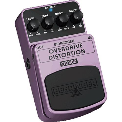 Behringer OD300 Overdrive and Distortion Stompbox Effect Pedal