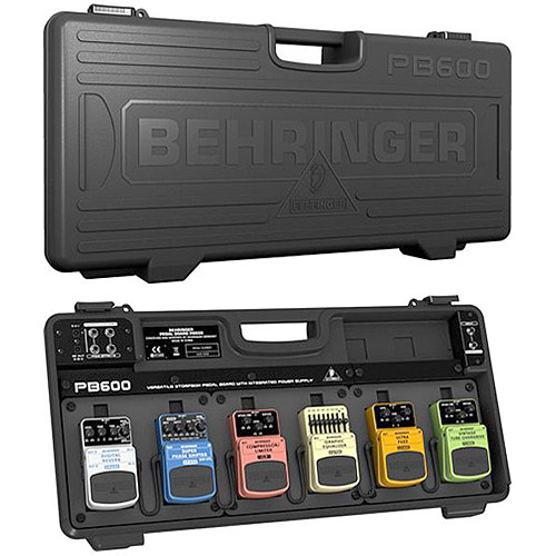Behringer PB600 Universal Effects Pedalboard with 9V Power Supply