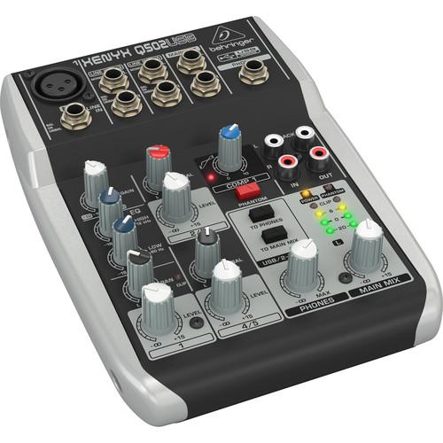 Behringer Xenyx Q502USB Premium 5-Input 2-Bus Mixer