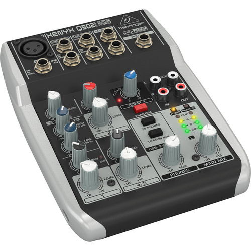 Behringer XENYX Q502USB 5-Channel USB Mixer
