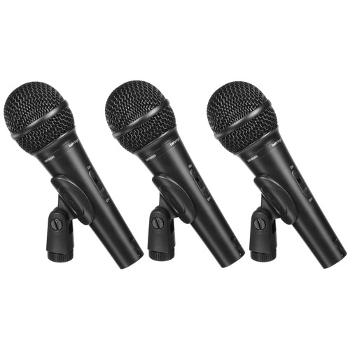 Behringer Ultravoice XM1800S Handheld Supercardioid Dynamic Microphone (Set of 3)