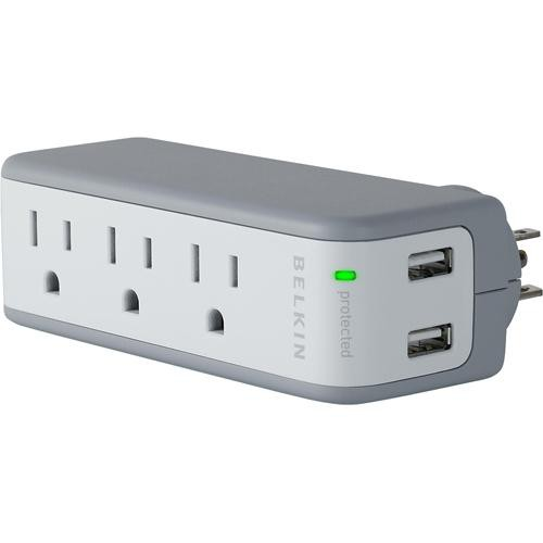 Belkin Mini Surge Protector with USB Charger (OEM Packaging)
