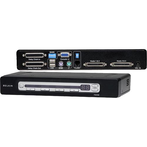 Belkin F1DA104Z 4-Port OmniView PRO3 USB & PS/2 KVM Switch