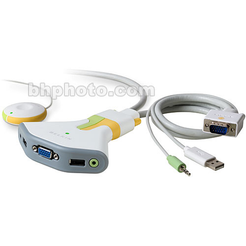 Belkin Flip - 2-Computer USB KVM Switch with Audio Support