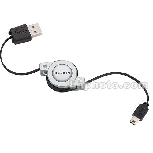 Belkin USB 2.0 5-Pin Mini-B Retractable Cable - 2.6'