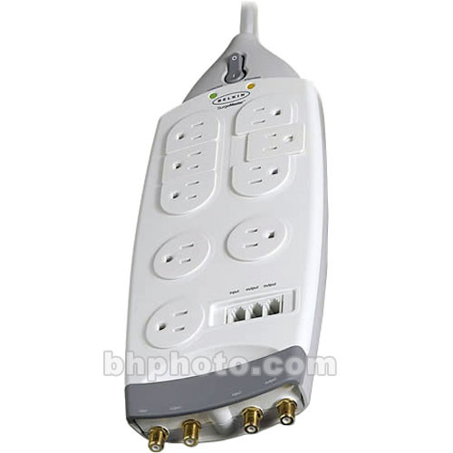 Belkin F9G933-10 9-Outlet Gold Series Surge Protector - Phone, DSL, DSS, 10'