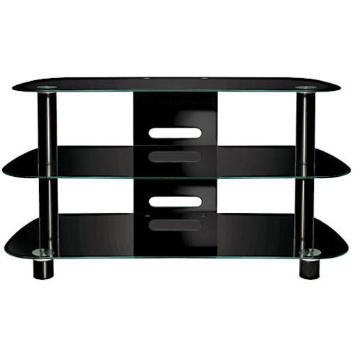 Bell'O PVS-4215HG High Gloss Black Flat Panel Audio Video System Stand