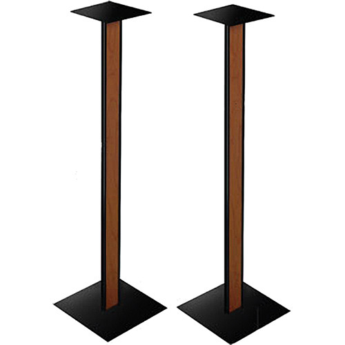 Bell'O SP-211 Speaker Stand With Cherry Finish Wood Inlay (Pair)