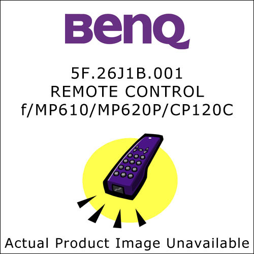 BenQ 5F.26J1B.001  Replacement Remote Control for the BenQ MP610, MP620P and CP120C Projectors