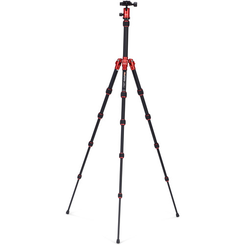 MeFOTO BackPacker Travel Tripod (Red)