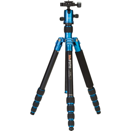 MeFOTO RoadTrip Aluminum Travel Tripod Kit (Blue)