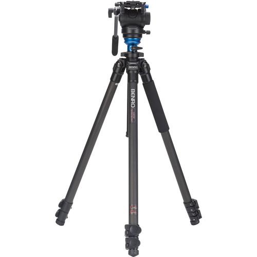 Benro C2573FS4 S4 Video Head and CF Flip Lock Legs Kit