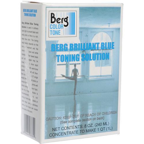 Berg Toner for Black & White Prints - Brilliant Blue/ Makes 1 Quart