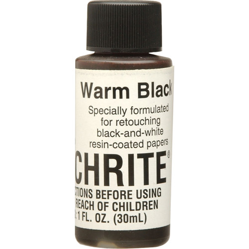 Berg Touchrite Retouch Dye for Black & White Prints - Warm Black/1 Oz.