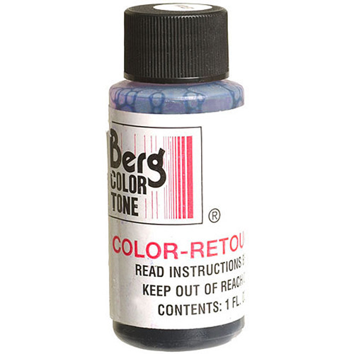 Berg Retouch Dye for Color Prints - Blue-1 (Cyan)/1 Oz.