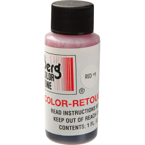 Berg Retouch Dye for Color Prints - Red-1 (Magenta)/1 Oz.