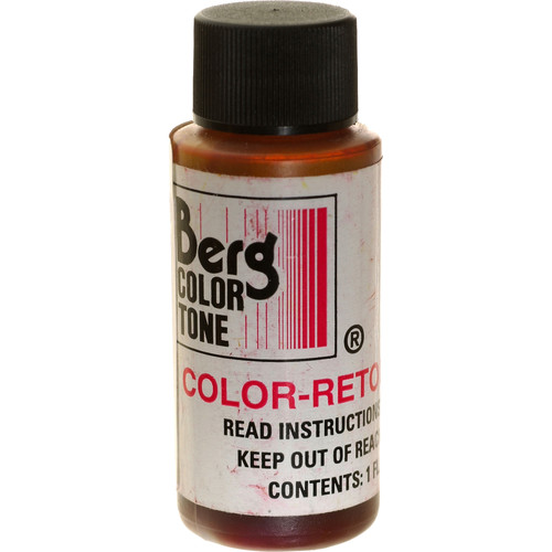 Berg Retouch Dye for Color Prints - Red-2/1 Oz.