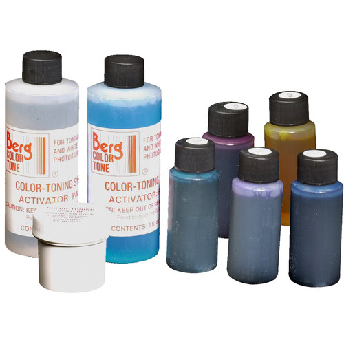 Berg Standard 5-Color Toning Kit for Black & White Prints