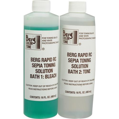Berg Toner for Black & White Prints - Rapid RC Sepia