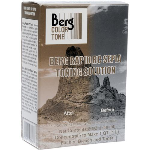 Berg Toner for Black & White Prints - Rapid RC Sepia