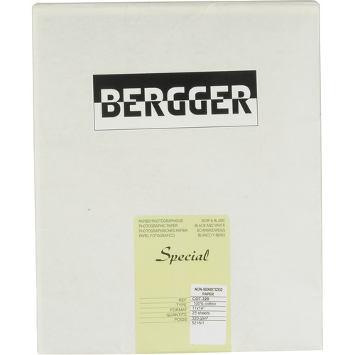 """Bergger 100% Cotton Uncoated Paper - 11x14"""" (25 Sheets)"""
