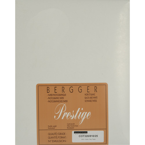 "Bergger 100% Cotton Uncoated Paper - 8x10"" (25 Sheets)"