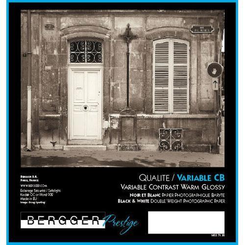"Bergger Prestige Variable CB Warmtone Baryta Paper (Glossy, 8 x 10"", 25 Sheets)"