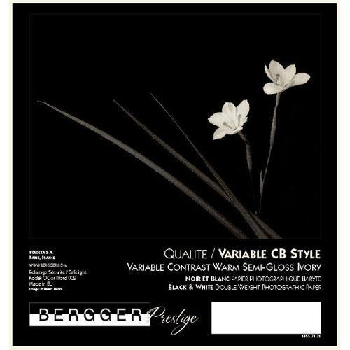 "Bergger Prestige Variable CB Warmtone Baryta Paper (Semi-Gloss, 8 x 10"", 25 Sheets)"
