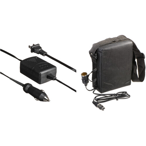 Bescor BES-015XLRA Shoulder Pack Lead-Acid Battery - 12 VDC, 14.4 amp hours - Cigarette and 4-Pin XLR Connectors, with Automatic Charger