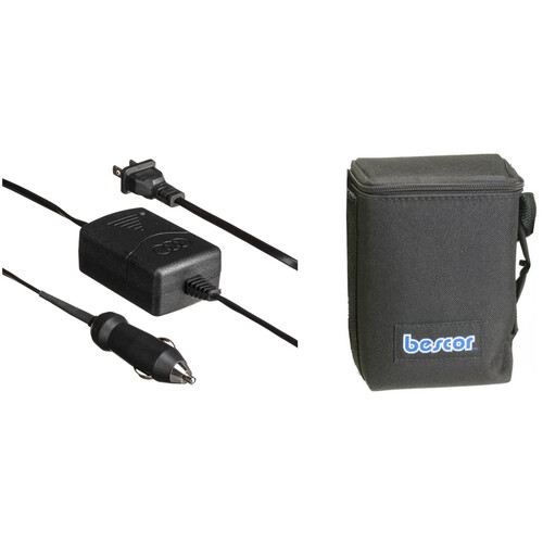 Bescor BES-018ATM Shoulder Pack Lead-Acid Battery - 12 VDC, 18 amp hours - Cigarette Plug Connectors, with Automatic Charger