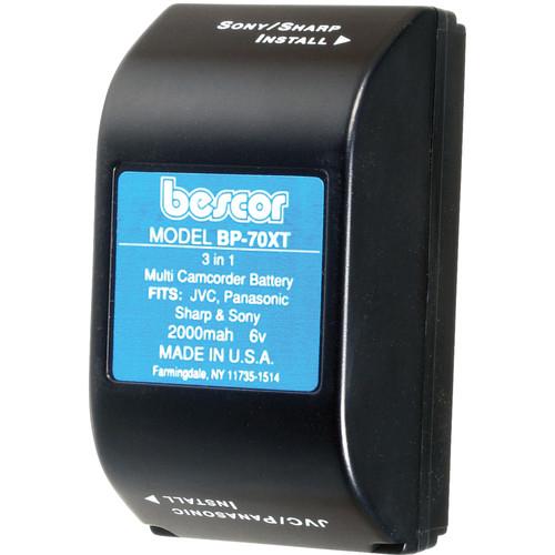 Bescor BP-70XT Ni-Cad Battery Pack - 6v, 2000mAh