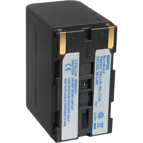 Bescor BPLI-L480 Lithium-Ion Battery Pack - 7.2v, 5500mAh