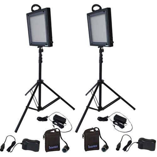 Bescor LED-500KNMH Studio 2 Light Battery Kit (100-240VAC)