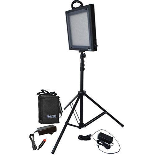 Bescor LED-500SB Studio Light and Battery Kit (100-240VAC)
