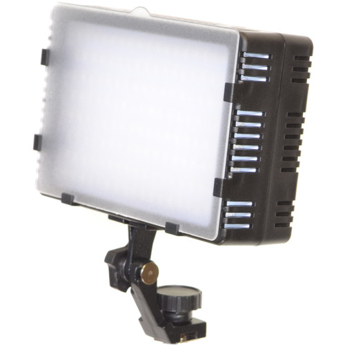 Bescor LED-125 On-Camera Light with Vello Multi-Function Ball Head Kit