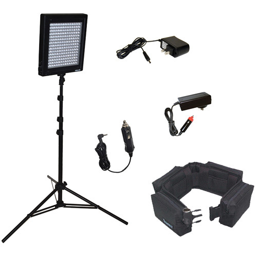 Bescor LED-200SBX 1 Light Kit with Battery Belt