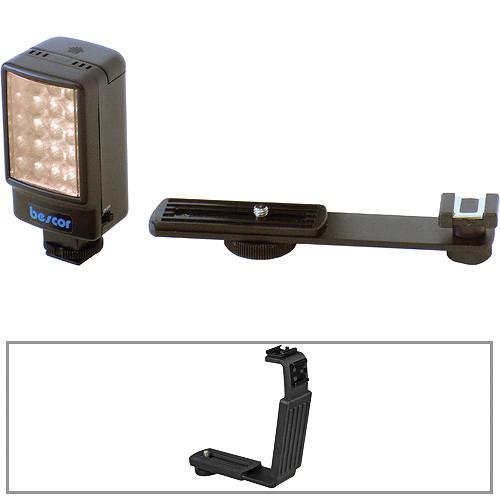 Bescor LED-25 25W LED On-Camera Light w/Universal Shoe Mount