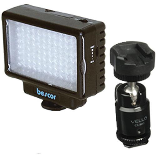 Bescor LED-70 70W LED Swivel Shoe Adapter Kit
