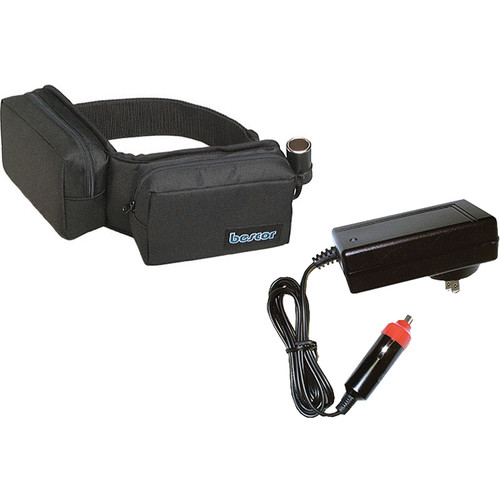 Bescor Heavy Duty Starved Electrolyte Battery Belt with Charger (12V, 14.4Ah)